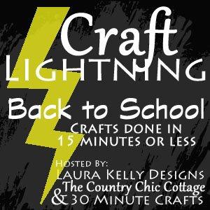craft lightning back to school