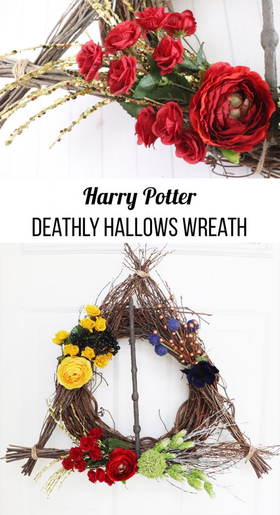 how to make deathly hallows wreath
