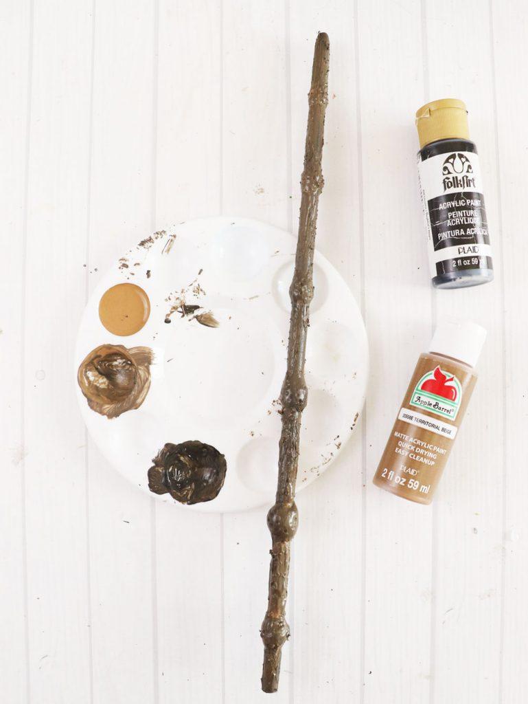 paint dowel rod wand