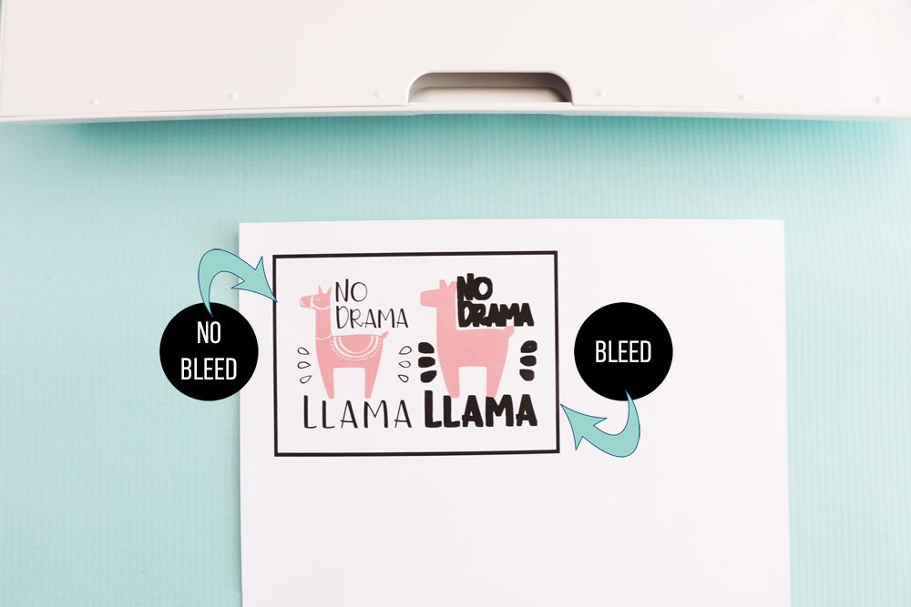 bleed vs no bleed print then cut