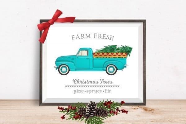 farm fresh christmas trees mockup Christmas