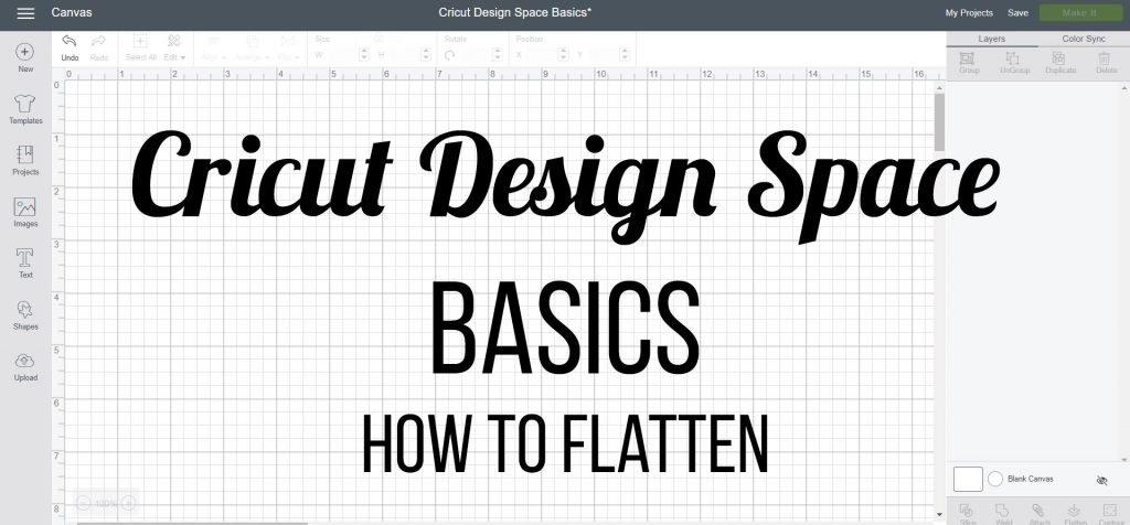 how to flatten - Cricut Design Space