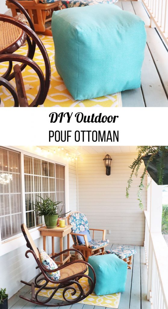 how to make outdoor pouf ottoman