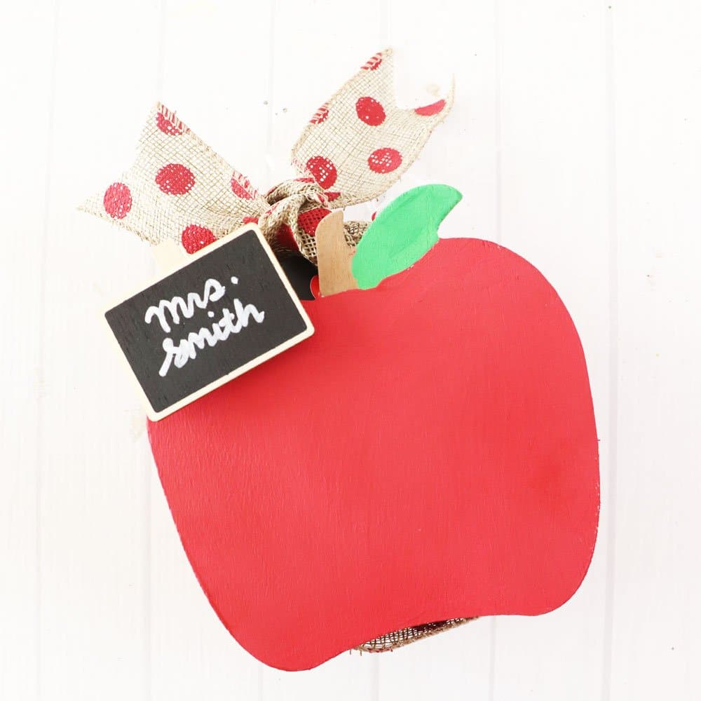 painted apple teacher gift