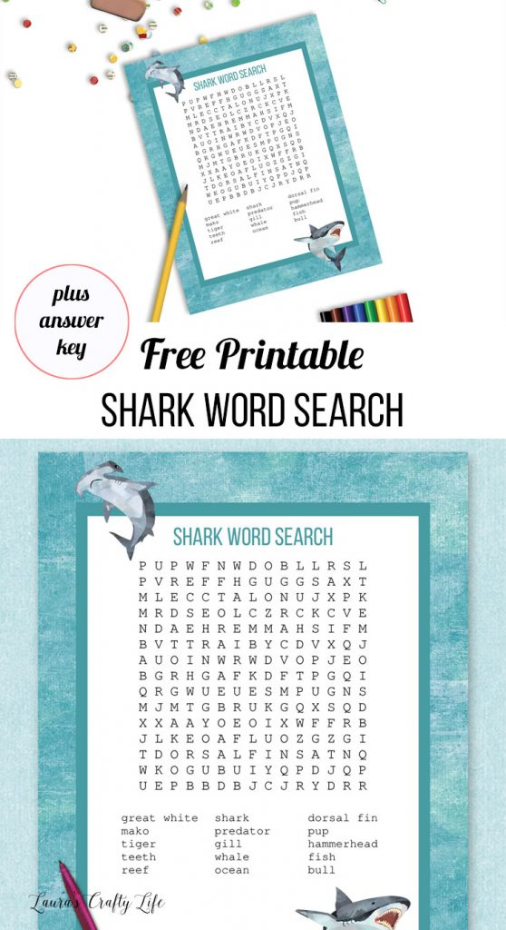 shark word search and answer key