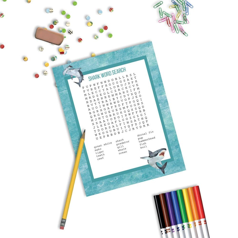 shark word search activity