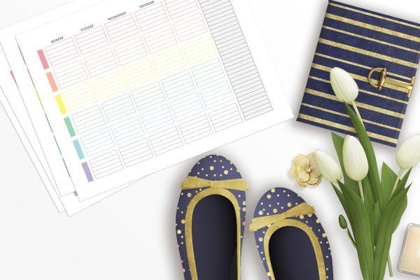 printable weekly student planner