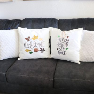 DIY fall pillow covers
