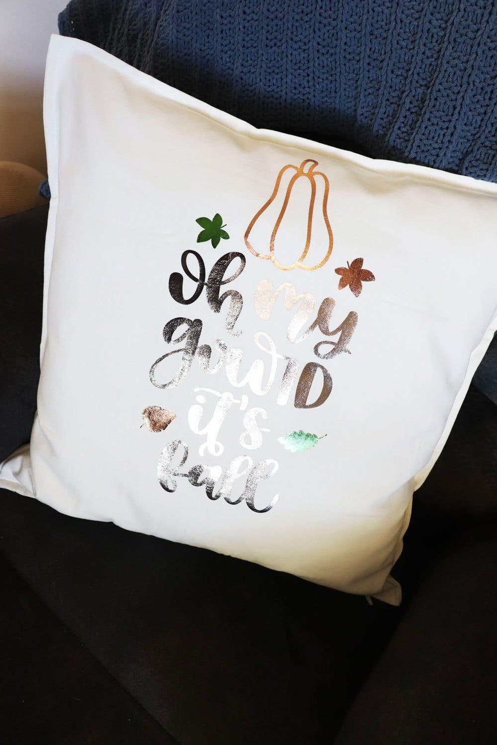 oh my gourd fall pillow cover