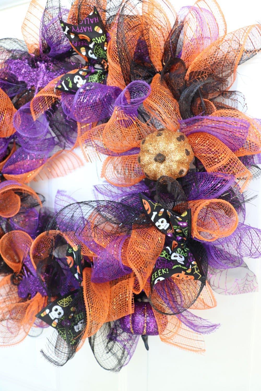 How To Make A Halloween Deco Mesh Wreath