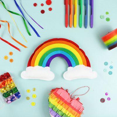 DIY felt rainbow