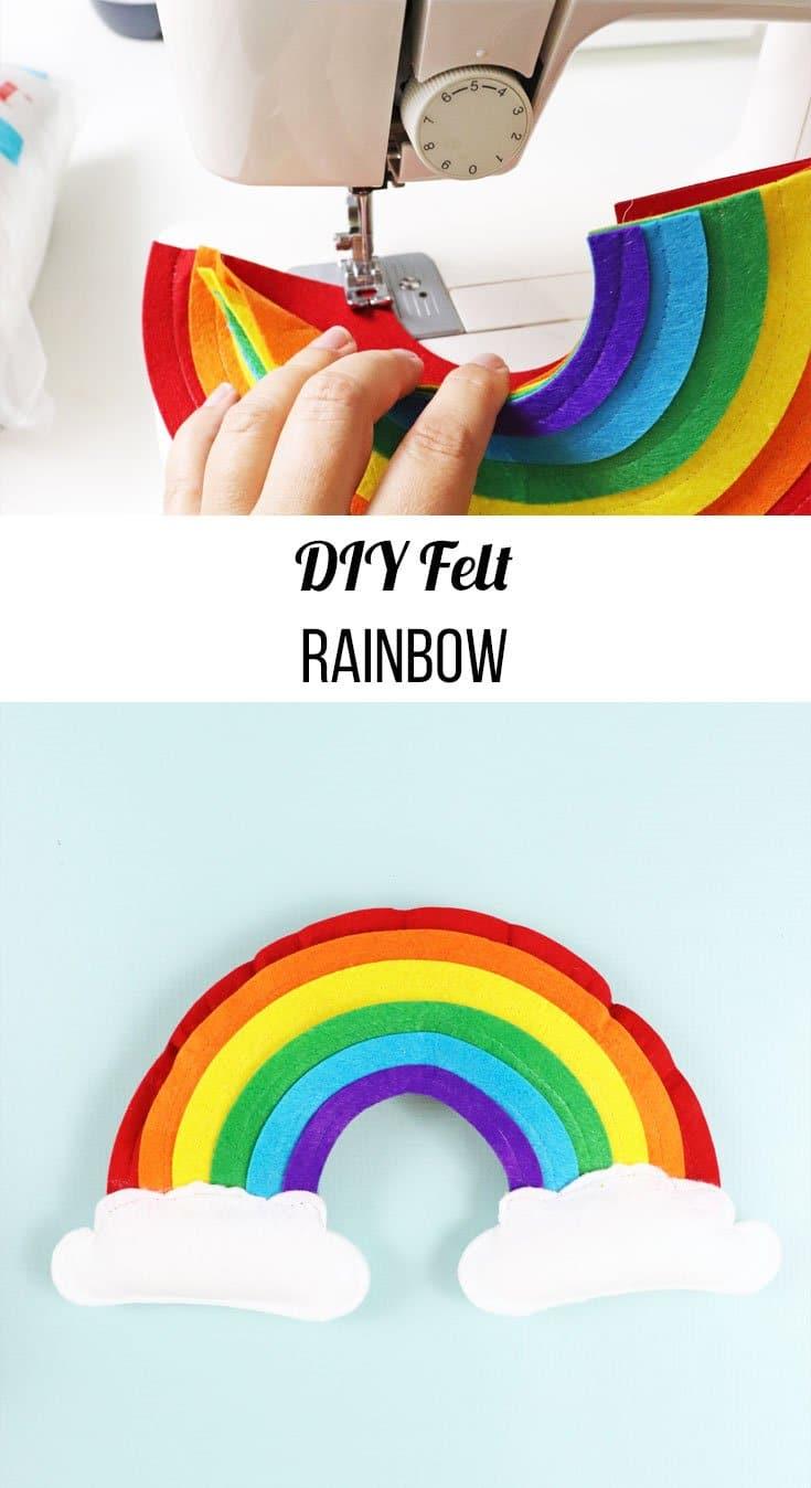 how to make DIY felt rainbow