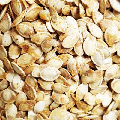 cooked pumpkin seeds
