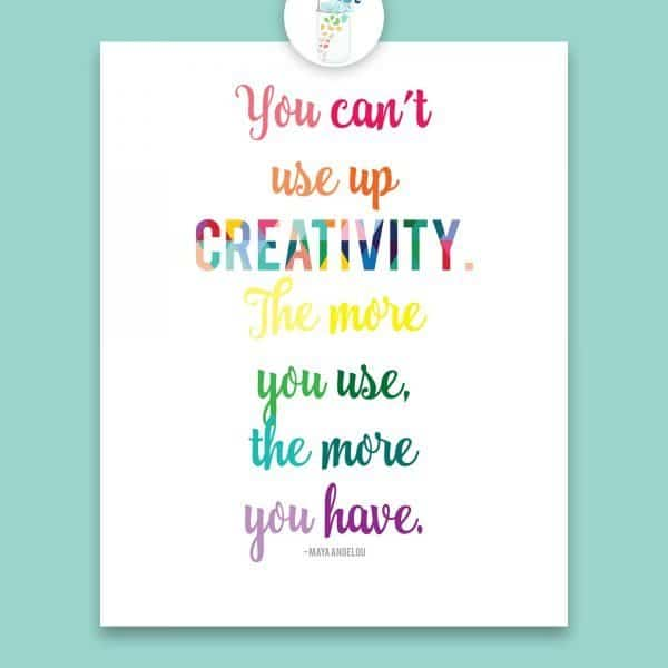 you cant use up creativity - Lauras Crafty Life