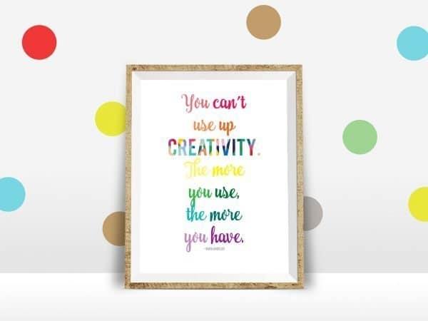 creativity polka dot wall mockup