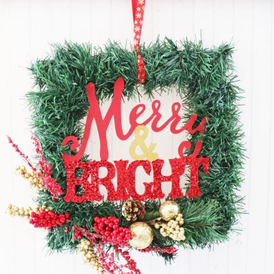 merry and bright wreath