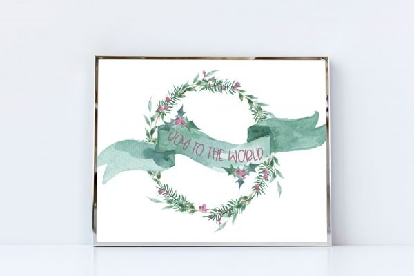 joy to the world silver frame mockup