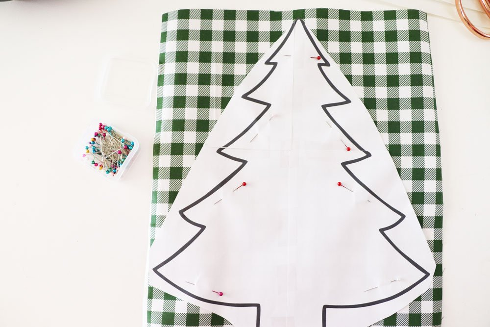 pin template to fabric