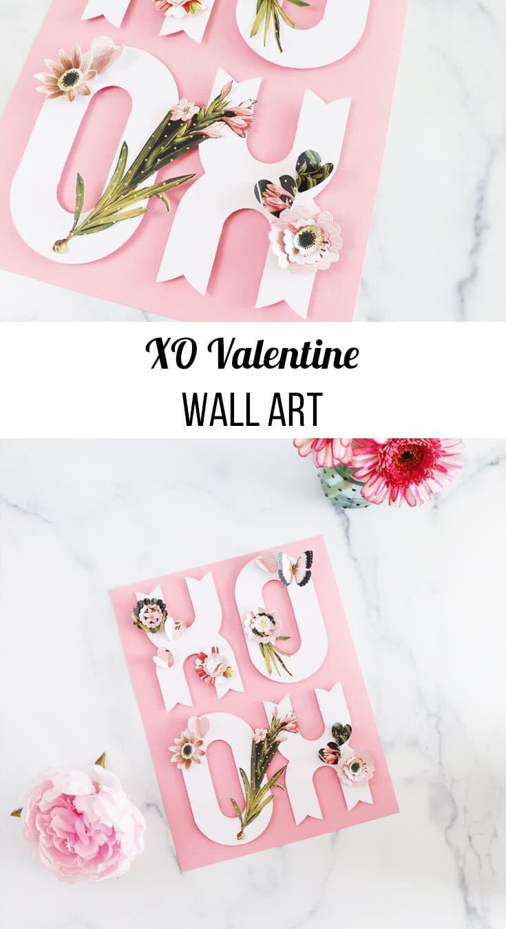 XO valentine wall art how to