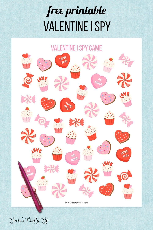 free printable valentine I spy