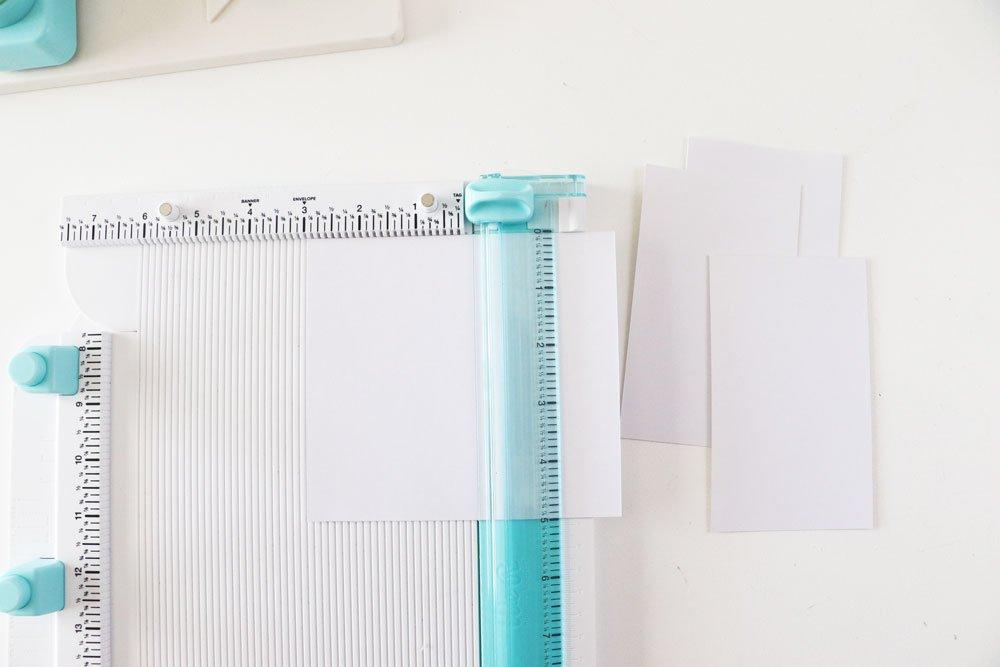 trim paper 3 x 5