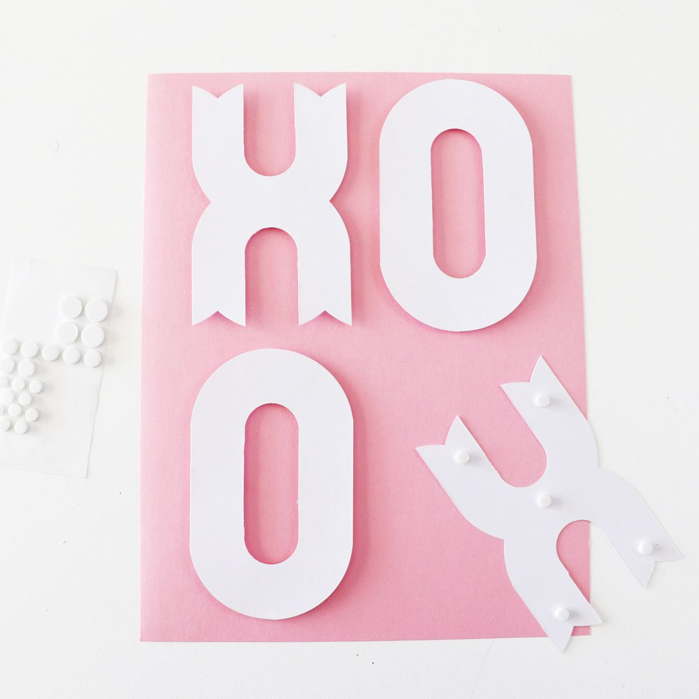adhesive dots to attach letters