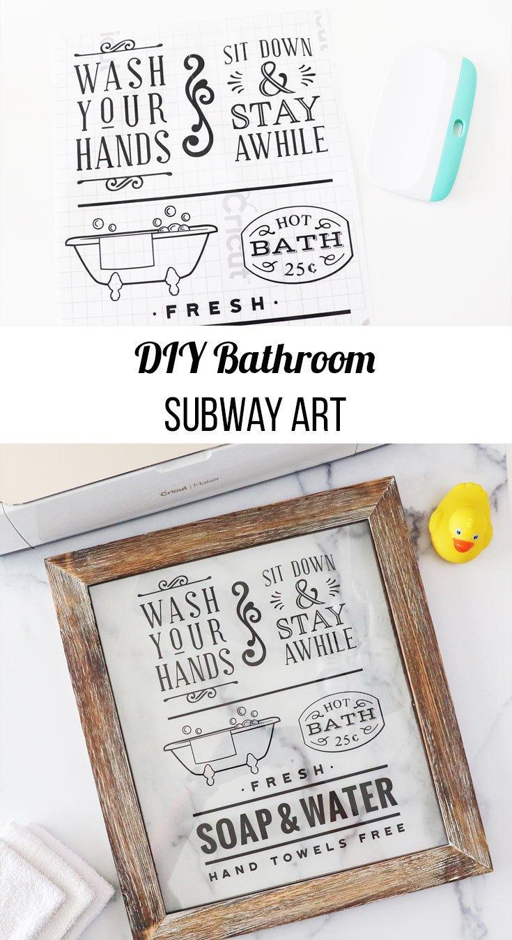 DIY Bathroom Subway Art