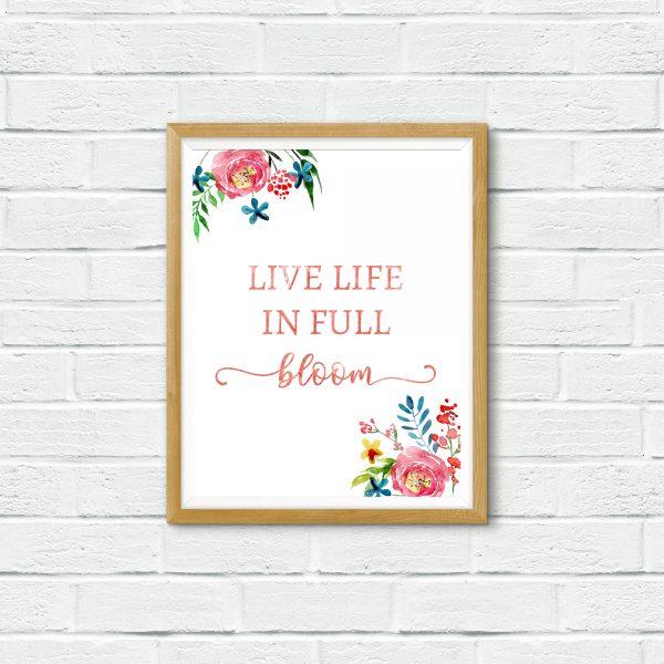 full bloom white wall mockup