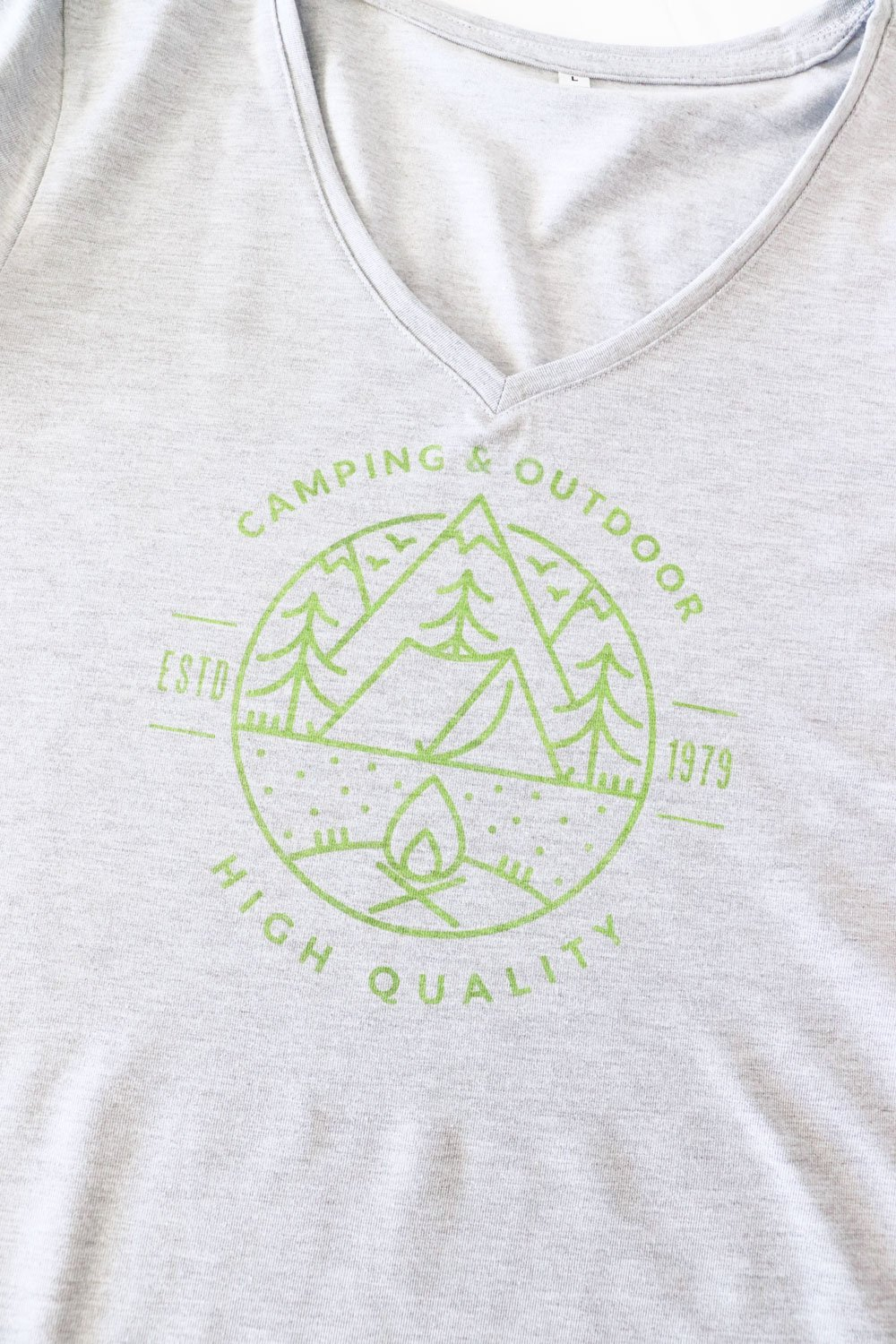 camping graphic tee