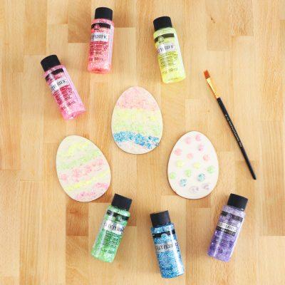 glitterific easter eggs