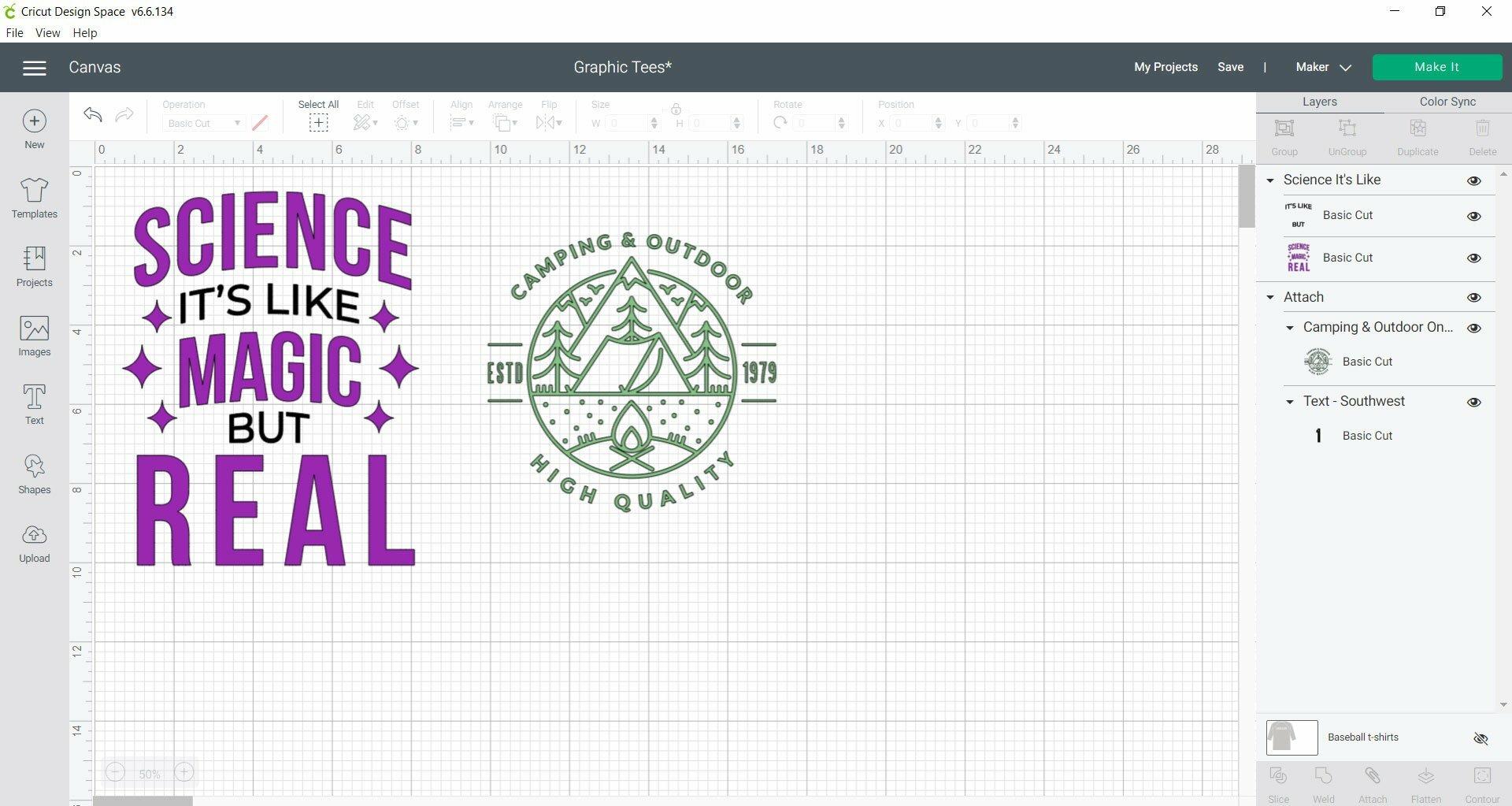 graphic tee - Cricut Design Space