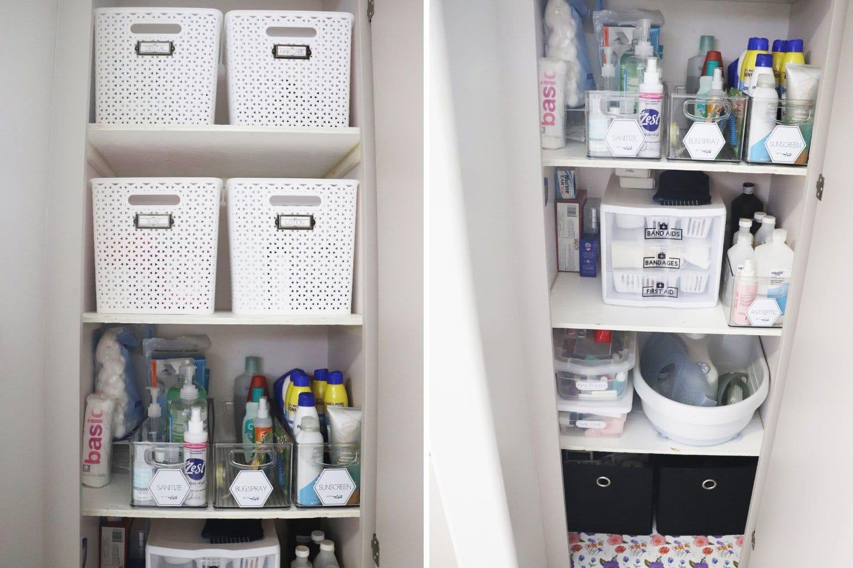bathroom cabinet after
