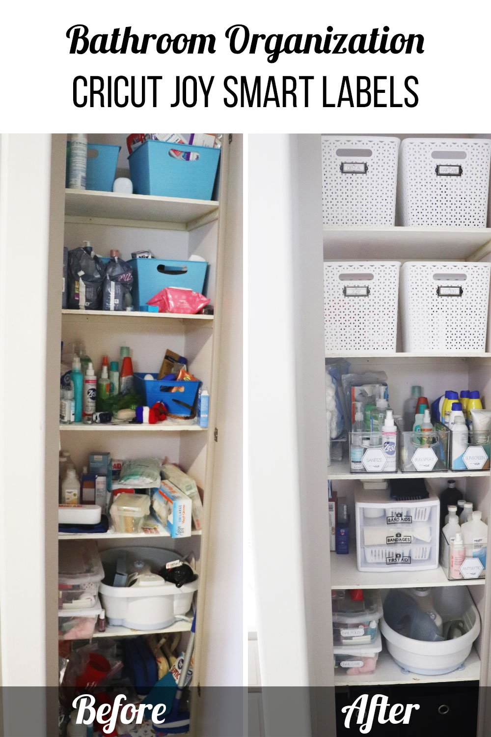 before and after bathroom organization