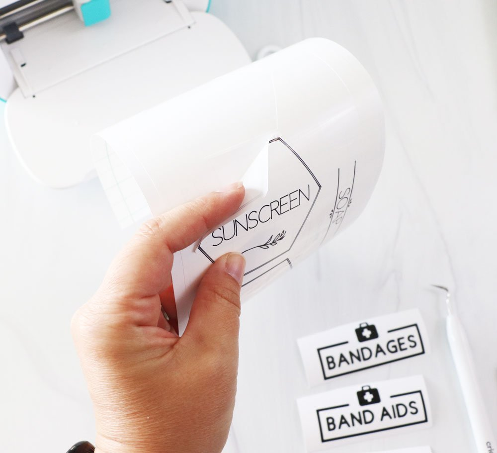 peel labels from carrier sheet