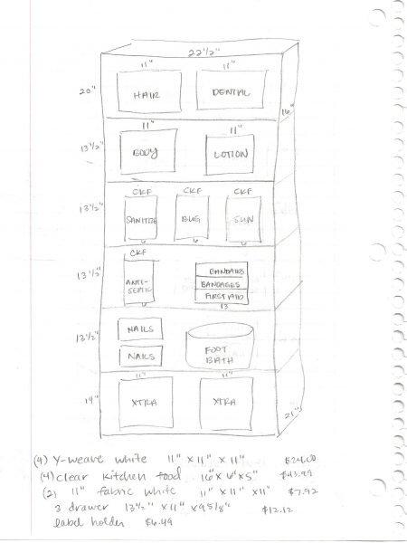 sketch of bathroom cabinets