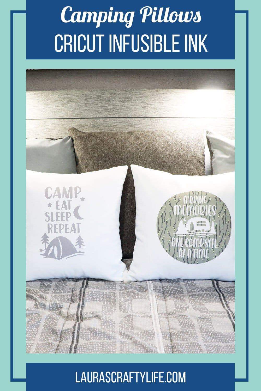 camping pillow cricut infusible ink