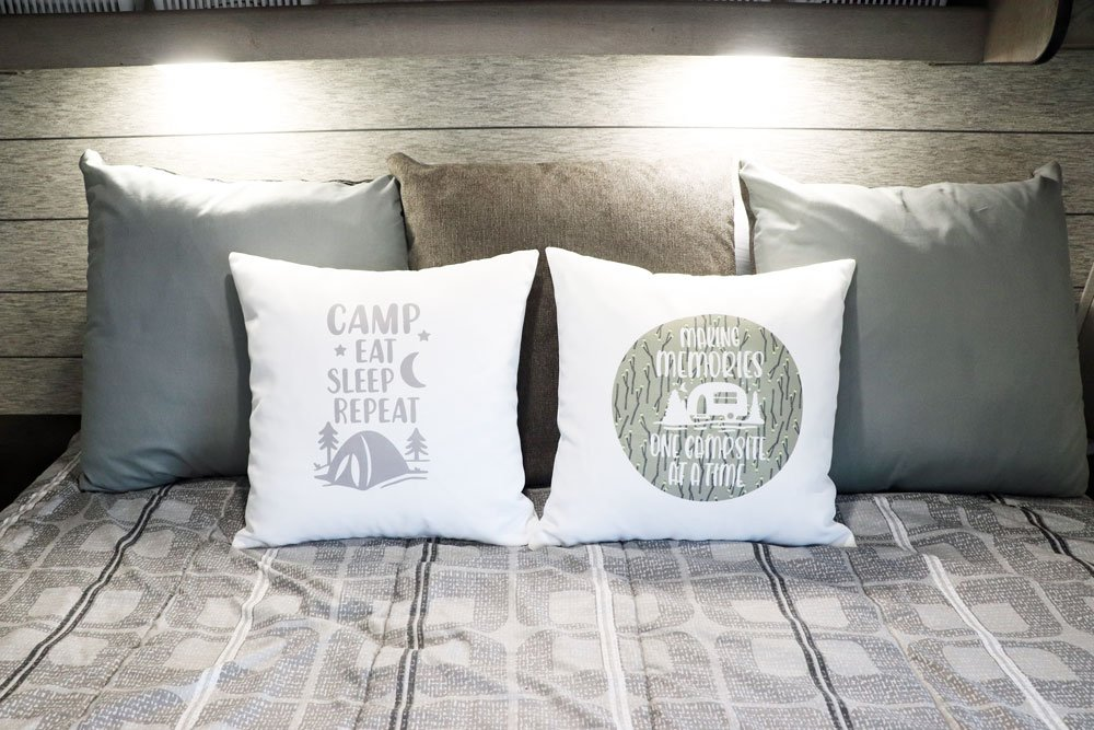 camping pillows made with infusible ink