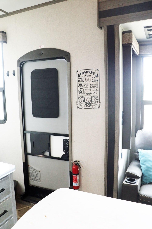 cricut camping rules rv decal