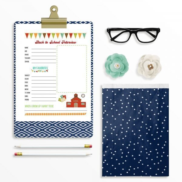 back to school interview mockup with clipboard