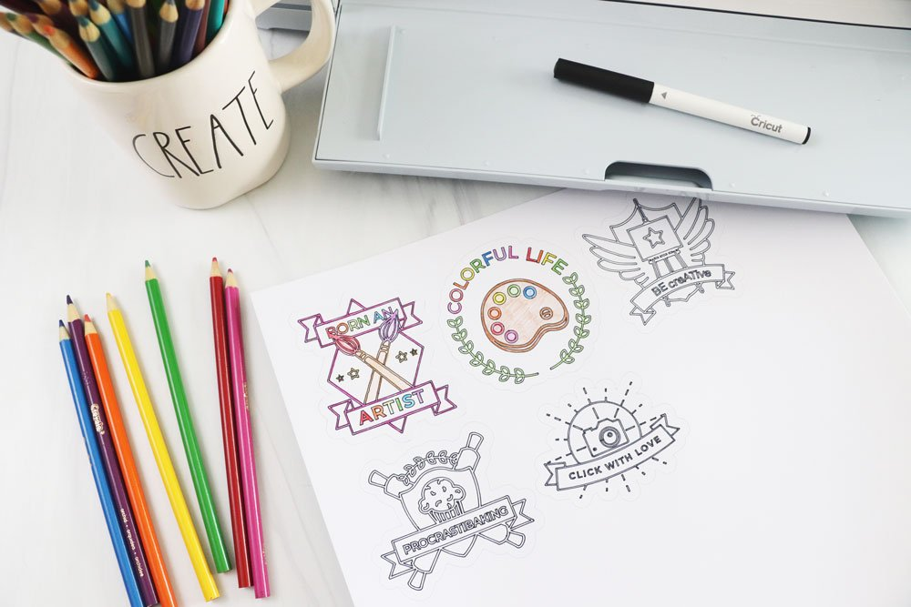 make stickers with Cricut Maker 3