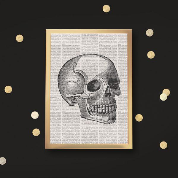 book page skull black mockup