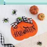 dollar tree halloween pumpkin sign