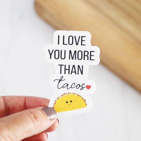 love you tacos sticker