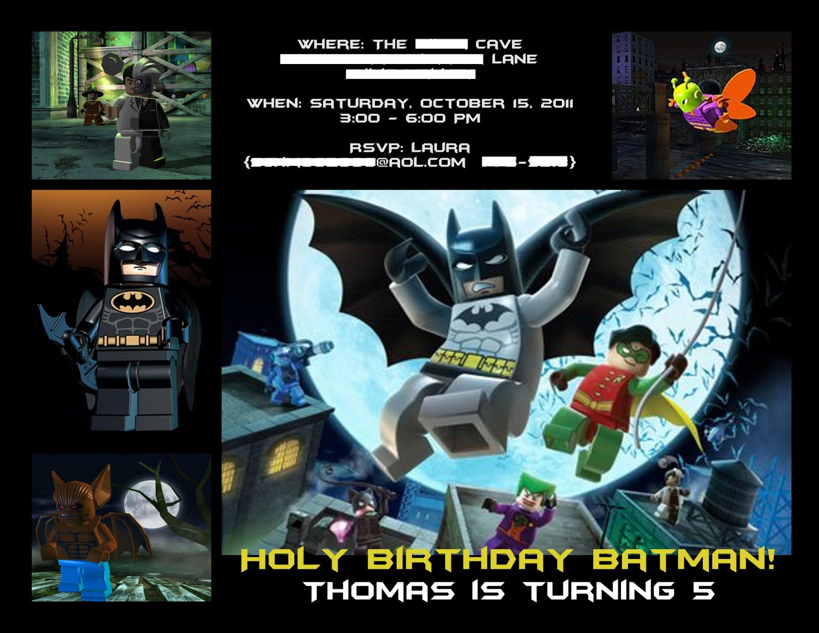 The Invitations Lego Batman