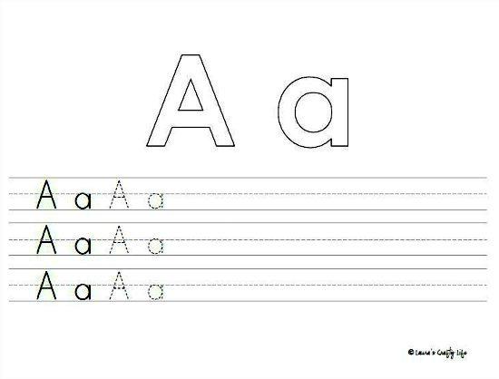 preschool writing practice