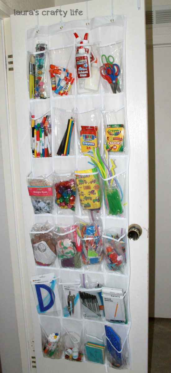 Organized art and school supplies laura 39 s crafty life for Arts and crafts supplies online