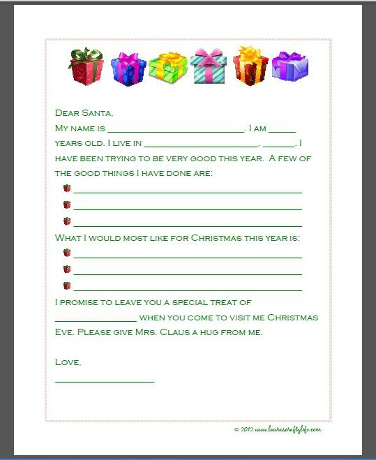letter to santa presents letter to santa santa picture letter to santa ...