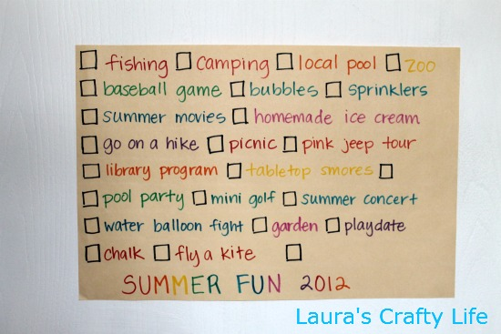 Summer fun 2012 laura 39 s crafty life for Design a house online for fun