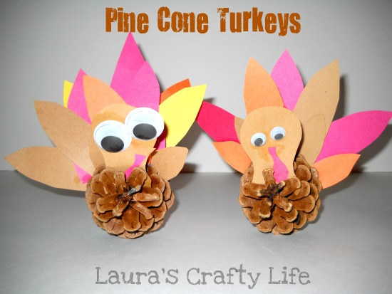 Pine Cone Turkeys from Laura's Crafty Life