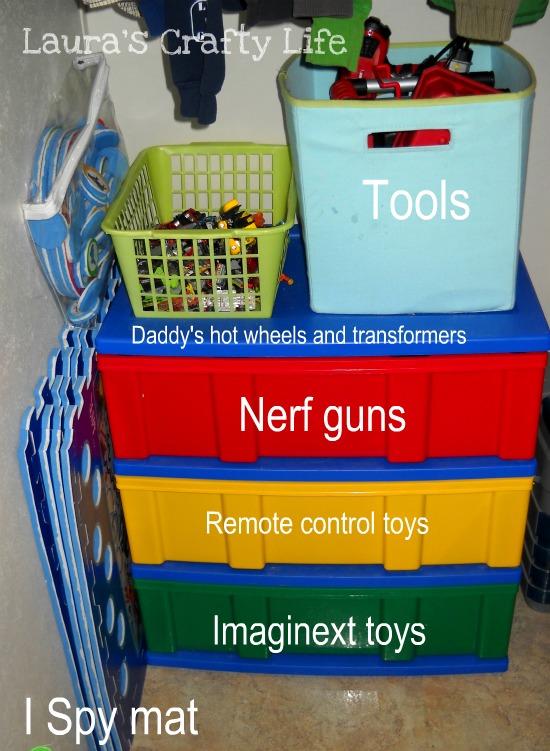 Closet toy dresser